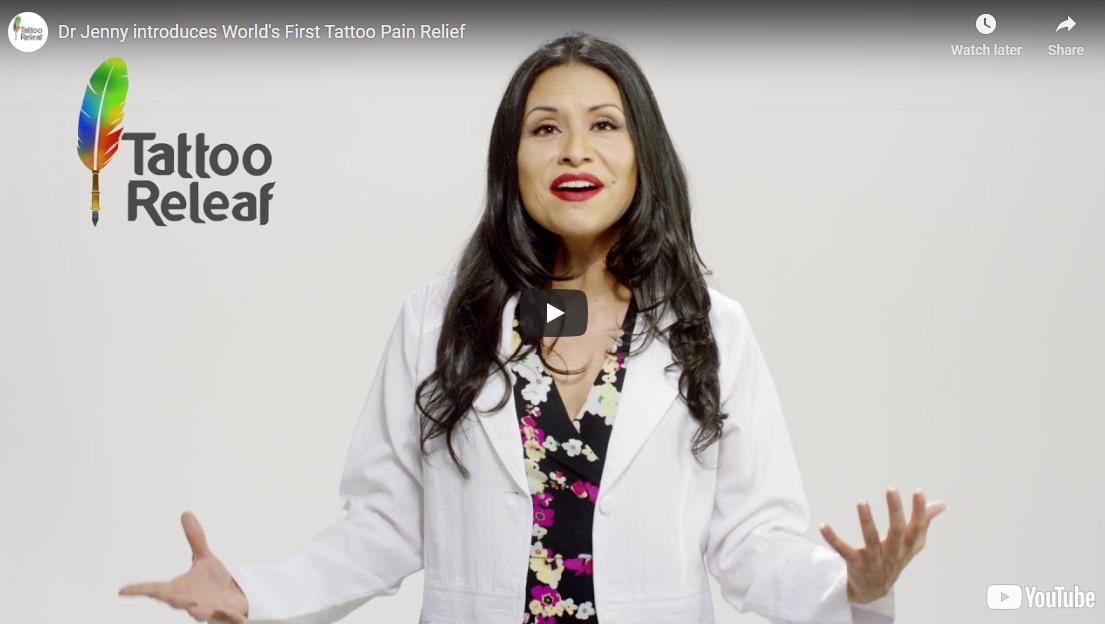 Dr. Jenny Introduces World's First Tattoo Pain Relief